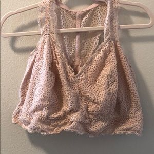 Light pink lace bralette